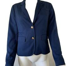 Banana Republic Blazer Womens Sz 4  Stretch Navy Blue Jacket Career 2 Button Photo
