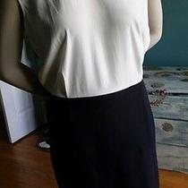 Banana Republic Blouson Black and White Dress Photo