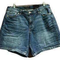 Banana Republic Blue Jean Shorts Size 30 Waist Stretch 5 Pocket Short New Photo