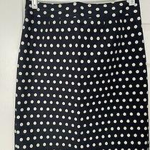 Banana Republic Blue Polka Dot Skirt Style 432145 Size 8 Photo