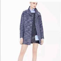 Banana Republic Blue Tweed Coat Size Medium Photo