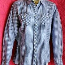 Banana Republic Blue White Check Cotton Button Blouse Sz S Shirt Long Sleeve Top Photo