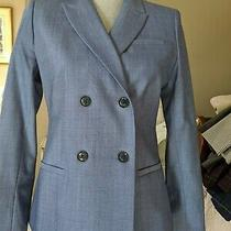 Banana Republic Blue Women's Double Breasted Blazer Jacket Sz 4 Photo
