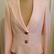 Banana Republic Blush Pink Patterned Peplum Jacket Acrylic Blend Size 12  Photo