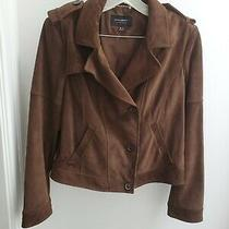 Banana Republic Brown Suede Leather Jacket - Medium Photo