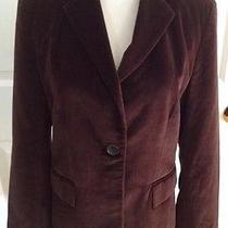 Banana Republic Brown Velvet Blazer Jacket Size 0 Lined Guc Photo