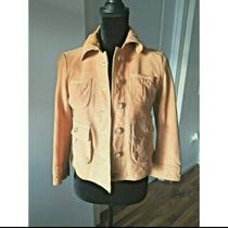 Banana Republic Butterscotch Suede Leather Jacket Women's Jacket Size Xs Photo