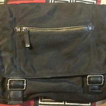 Banana Republic Computer Messenger Crossbody Shoulder Hobo Bag Black Leathr Tr Photo