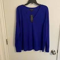 Banana Republic Extra Fine Merino Wool Pullover Sweater v-Neck Women's Photo