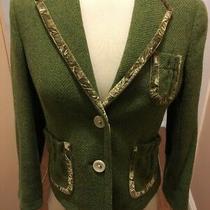 Banana Republic Green Wool Blend Riding Jacket Blazer 2/xs Two Button Photo