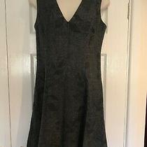 Banana Republic Grey Wool Mix Lined Skater Dress Size 8 Vgc Knee Length  Photo