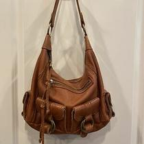 Banana Republic Heavy Leather Hobo Bag Purse Saddle Light Brown Vintage Soft Euc Photo
