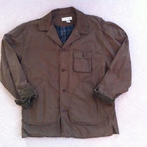 Banana Republic Jacket Size M Medium Cotton Leather Barbour Field Barn Coat Photo