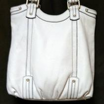 Banana Republic Large White Soft Leather Shoulder Bag Purse W/ Wallet Lnwot  Photo