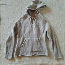 Banana Republic Light Blue Hoodie 100% Wool Womens Size L Photo