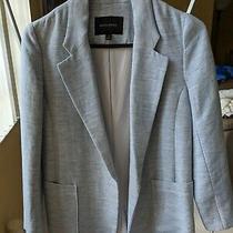 Banana Republic Light Blue Summer Linen Pocket Open Blazer Jacket Suit Size 2 Photo