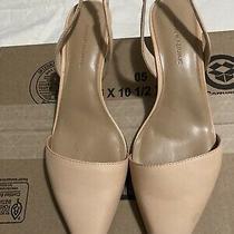 Banana Republic Like Cream Color Womens Pointed Toe Strappy Kitten Heels Size 9 Photo