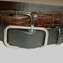 Banana Republic Lot of 2 Leather Belts Brown Black Leather  Belt Size 40 Nwot Photo