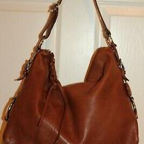 Banana Republic Luggage Tan Tumbled Leather Lg Slouchy Shoulder Bag Hobo Photo