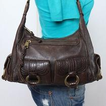 Banana Republic Medium Brown Leather Shoulder Hobo Tote Satchel Purse Bag Photo