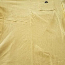 Banana Republic Mens Short Sleeve Crew Neck Pocket T-Shirt Logo Yellow Medium Photo
