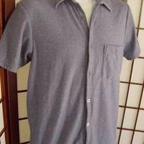 Banana Republic Mens Dark Blue Short Sleeve Button Down Shirt S Small Photo