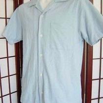 Banana Republic Mens Light Sky Blue Short Sleeve Button Down Shirt S Small Photo