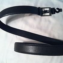 Banana Republic Mens New Dark Gray Genuine Leather Belt Size 38 Photo