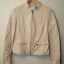 Banana Republic New 425 Womens Small Blush Pink Lamb Leather Moto Jacket Ng Photo