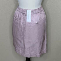 Banana Republic Nwt Women's 8 Sheen Blush Pink Straight Pencil Pockets Skirt 79 Photo