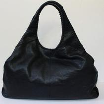Banana Republic Peppled Black Leather Dress Hobo Handbag Purse Tote Large Braid Photo