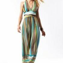 Banana Republic Silk Strip Maxi Dress (Used) - Size 8 Photo
