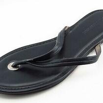 Banana Republic Size 7 M Black Flip Flop Leather Women Sandal Shoes  Photo