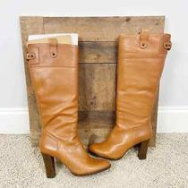 Banana Republic Size 8.5 Leather Knee High Heeled Boots New Photo