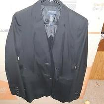 Banana Republic Size 8 Black Lined Blazer Wool/poly - Free Shipping Photo