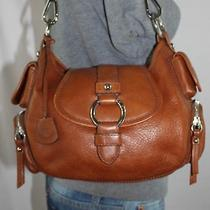 Banana Republic Small Brown Leather Shoulder Hobo Tote Satchel Slouch Purse Bag Photo