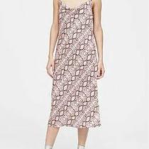 Banana Republic Snake Print Cowl Neck Spaghetti Strap Blush Pink Slip Dress 6 Photo