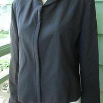 Banana Republic Stretch Jacket Blazer Wool Spandex Made in Italy Womens Medium Photo