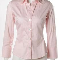 Banana Republic Stretch Light Pink Blush Classic Button Down Dress Shirt Xs Photo