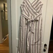 Banana Republic Striped Jumpsuit Size 6 Photo