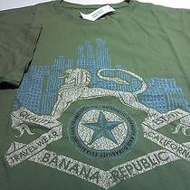 Banana Republict-Shirtxxlnewgreen Cottongryphon/skyline/star Graphicnwt Photo