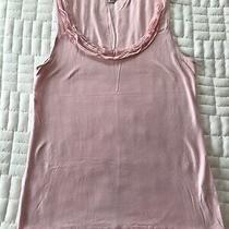 Banana Republic Tank Top - Blush Pink - Size L - Fun Collar  Photo