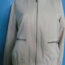 Banana Republic Tencel Bomber Jacket Blush Woman's Zip Pocket Small Photo