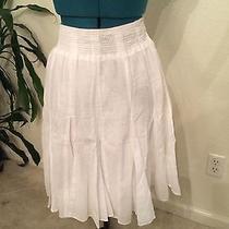 Banana Republic White Skirt Photo