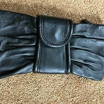Banana Republic Women's Black 100% Cow Leather Clutch Purse Small Photo