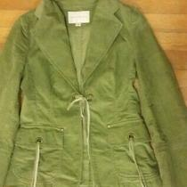 Banana Republic Women's Blazer Green Sage 100% Cotton Corduroy Size S Photo