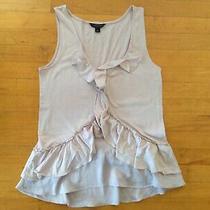 Banana Republic Women's Blush Blouse Size Medium  With Ruffe Design  Photo
