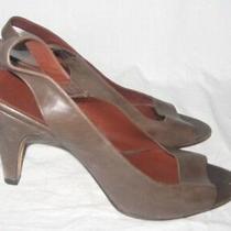 Banana Republic Women's High Heels Leather Peep Toe Pumps Slingback Shoes Size 9 Photo