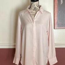Banana Republic Womens Pink Parker Tunic Fit Long Sleeved Shirt Size M Soft Photo