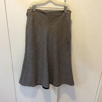 Banana Republic Womens Size 0 Gray Tweed Pencil skirt.made in Italy Photo